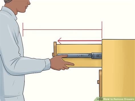 how to cabinet drawers 5 ways to remove drawers wikihow