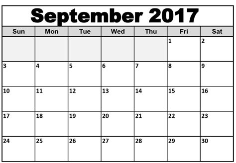 september 2017 calendar word calendar template letter