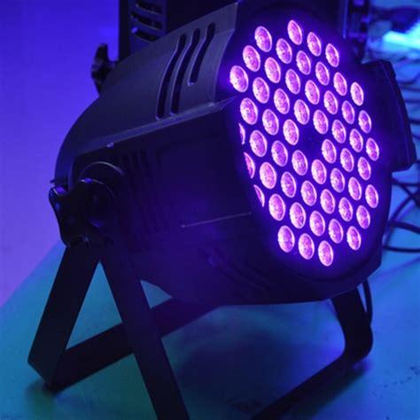 dj black light uv blacklight 54x3w uv led par cans for disco dj black