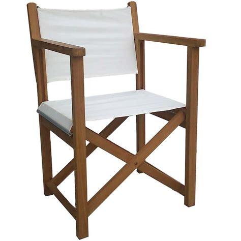 sillas teka jardin silla quot director quot con brazos plegable y reforzada teca