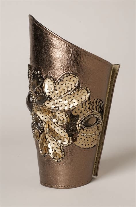 Handmade Leather Cuffs - handmade bronze leather cuff western wear by n