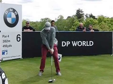 justin rose golf swing video justin rose golf swing driver face on view bmw pga