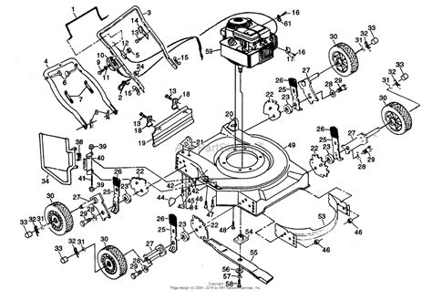 poulan lawn mower parts diagram poulan pp722sb mower parts diagram for 22 quot rotary lawn mower