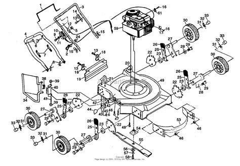poulan pro parts diagram poulan pp722sb mower parts diagram for 22 quot rotary lawn mower