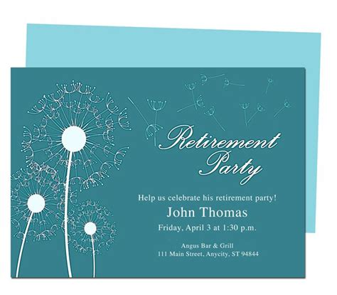 retirement dinner invitation template winds retirement invitation templates diy printable