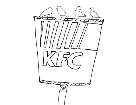 coloring page of fried chicken kfc coloring pages coloring pages