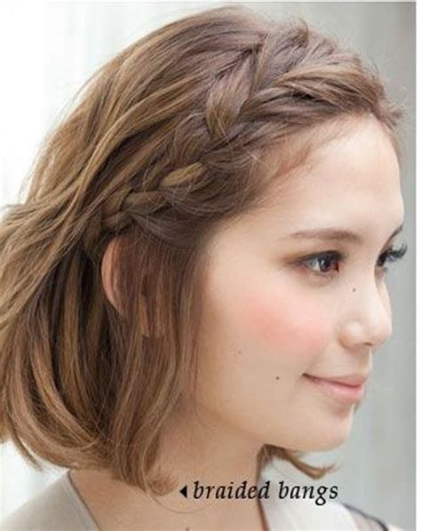 updos for chin length hair cutest braided bangs chin length hairstyles 2016 full dose