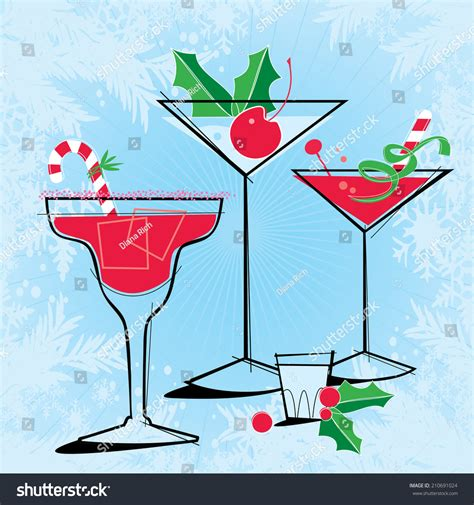 holiday cocktails background retro style holiday cocktails retro stylized holiday