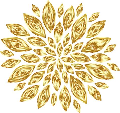 gold images gold yellow flowers clipart clipground