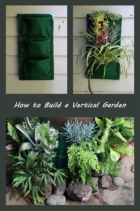how to build a vertical garden garden