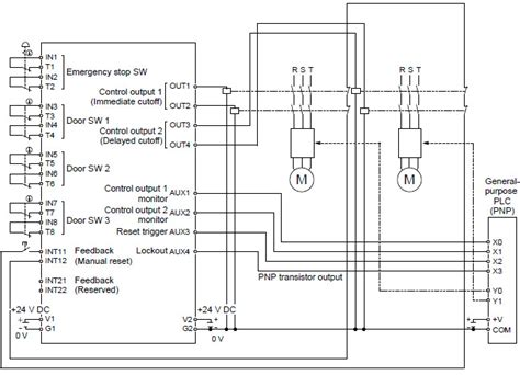 safety unit sf c21 i o circuit and wiring diagrams