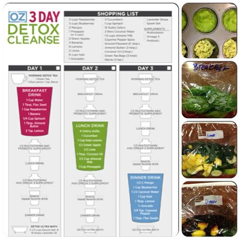 Douillard 4 Day Detox by Trying The 3 Day Detox Cleanse By Dr Oz I Planned Ahead