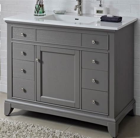 42 vanities for bathrooms smithfield 42 quot vanity medium gray fairmont designs