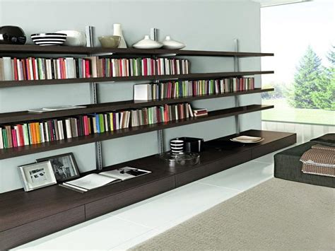 wall mounted bookcase for apartment design stroovi