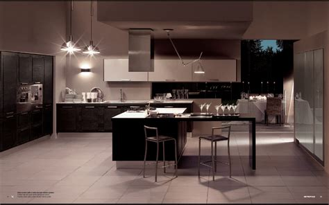 Modern Kitchen Interiors | metropolis modern kitchen interior decor stylehomes net