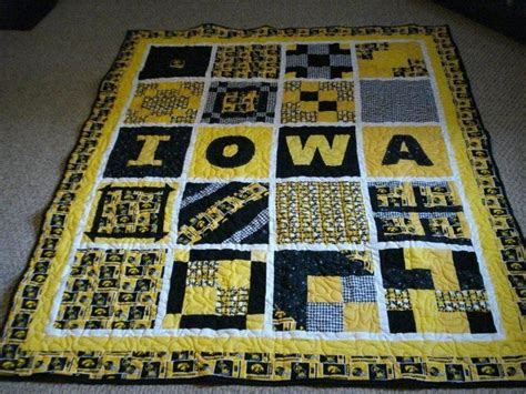 T Shirt Patchwork Quilt - 9 best iowa hawkeye quilt images on baby