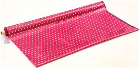 Canvas Laminating Polka Sedang berry purple echino laminate canvas fabric with polka dots laminates fabric