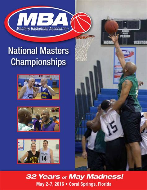 Mba Basketball Schedule Nashville by 2016 National Chionships Tournament Program By Masters
