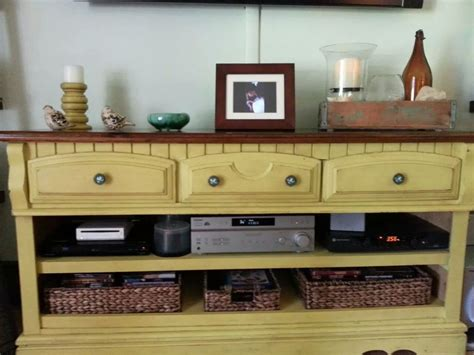 Dresser Entertainment Center by Converting A Dresser Into An Entertainment Center Hometalk