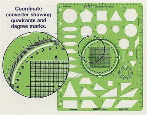 Geometry Template by China Plastic Geometry Template Ruler R 003 China