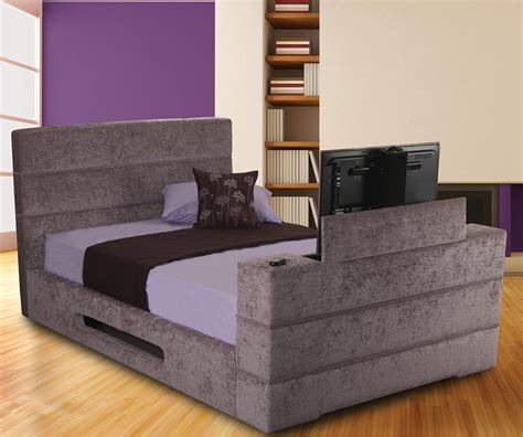Tv Bed Frame Sale Sweet Dreams Mazarine Standard Fabric Tv Bed Frame Bedsdirectuk Net