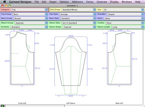 clothes pattern software mac patterning software features for garment designer