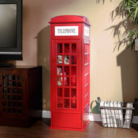 phone booth dvd cd media storage bookcase cabinet sei