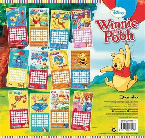 2018 winnie the pooh wall calendar day winnie the pooh calendars 2018 on abposters
