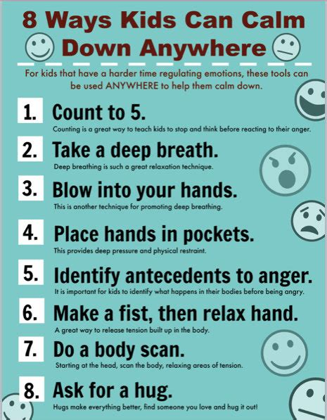 4 Practical Ways To Help Keep Their Faith Room Printable Poster For Helping Children Calm