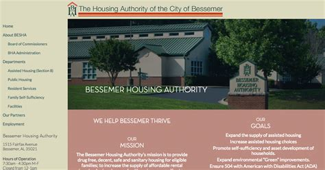 alabama housing authority section 8 bha administration bessemer housing authority