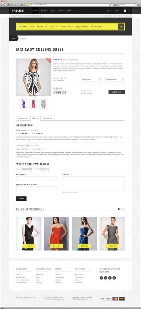 product review template precise multipurpose responsive template by