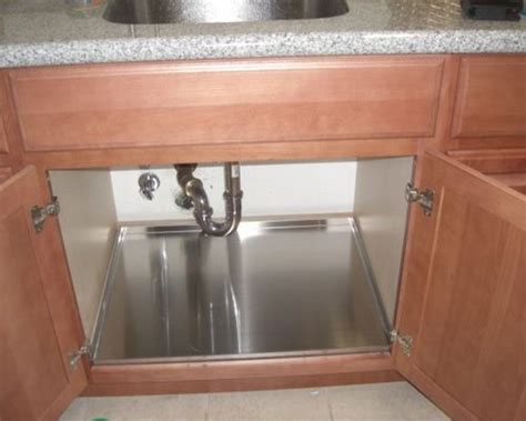 kitchen sink cabinet tray protect your sink base cabinet with trays
