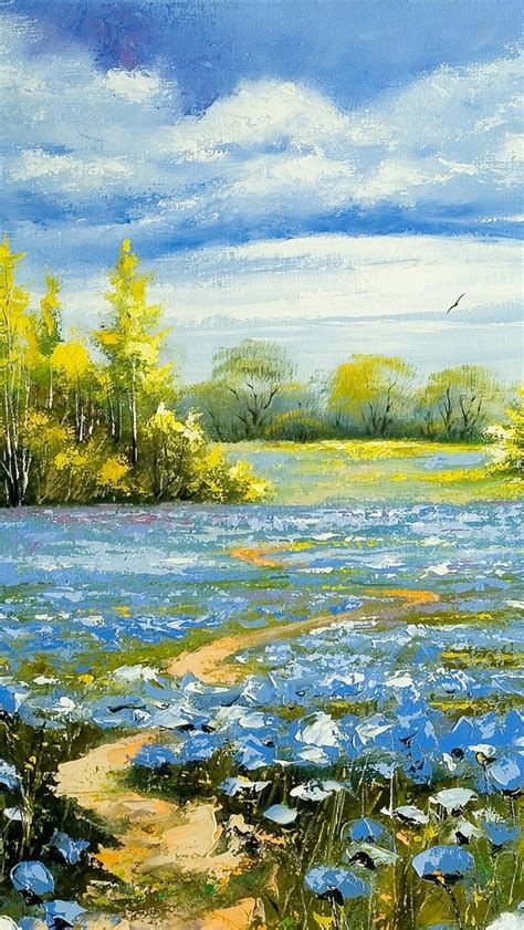 wallpaper for iphone 5 spring spring scenery painting wallpaper free iphone wallpapers