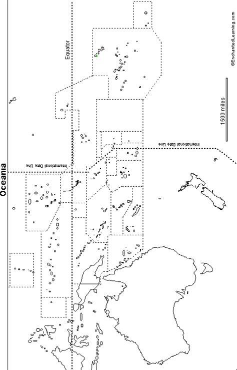 oceania outline map outline map oceania enchantedlearning