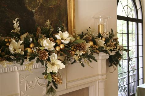 fireplace garland with elegant red mantel christmas garland and gold pillar