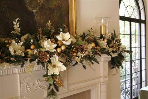 Mantel Decorations Garland by Mantel Garland And Gold Pillar