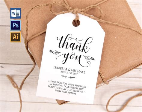 thank you for purchasing our product template thank you tag wpc29 invitation templates creative market
