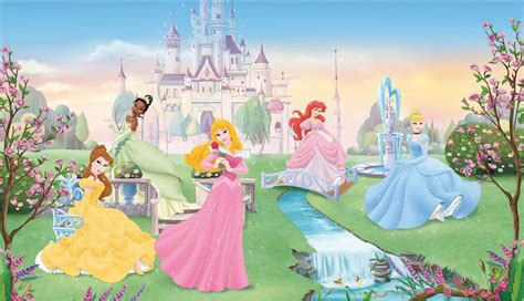 disney princesses large prepasted accent wall mural