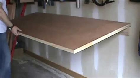 fold down work table for garage foldable work bench youtube
