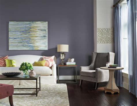 Interior Plant Wall Colorfully Behr Color Of The Month Old Amethyst