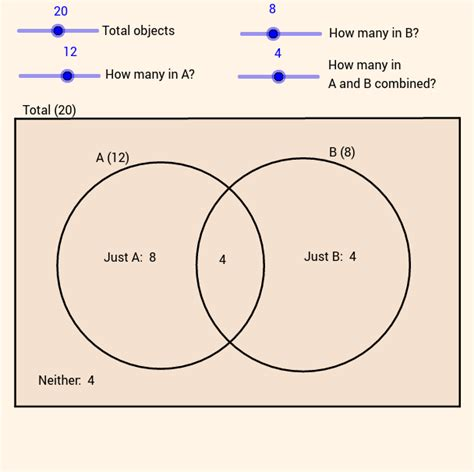 venn diagram solver venn diagrams geogebra
