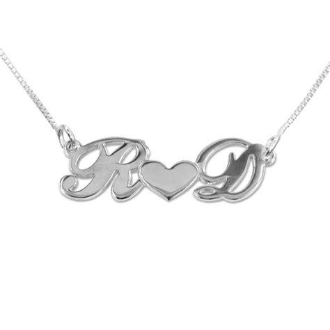 imagenes de corazones con iniciales collar con iniciales y coraz 243 n plata de ley