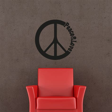 Sticker Peace stickers muraux citations sticker peace ambiance