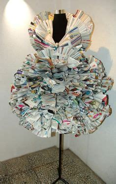 How To Make A Paper Dress To Wear - 1000 images about trashion fashion recycle garbage wear