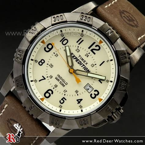 buy timex indiglo expedition rugged metal field leather
