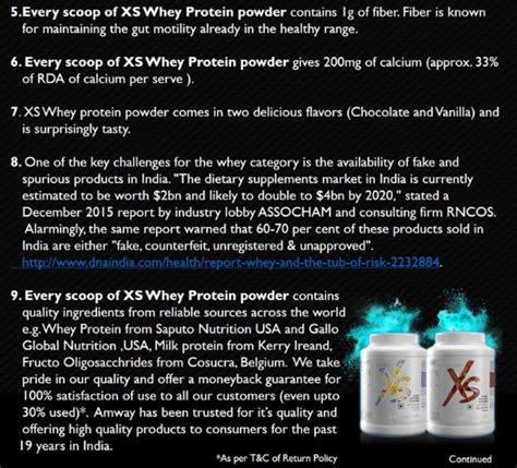 Whey Protein Amway is amway xs whey protein or bad quora