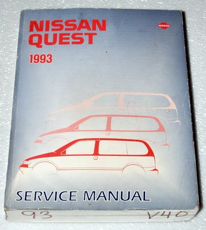 how to download repair manuals 1993 nissan quest seat position control 1993 nissan quest xe gxe mini van oem factory dealer shop service repair manual ebay