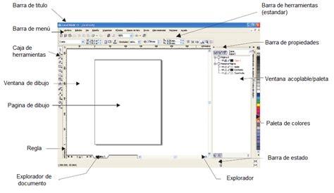 corel draw x5 y sus partes corel draw espacio de trabajo de coreldraw