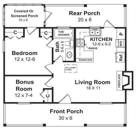 House Plan 59039 at FamilyHomePlans.com
