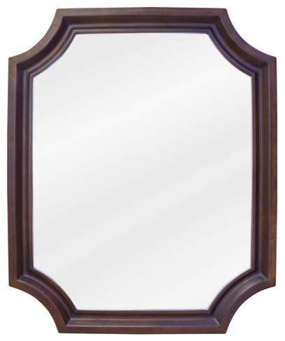 rounded corner bathroom mirror abbott rounded corners mirror traditional bathroom mirrors by buildcom